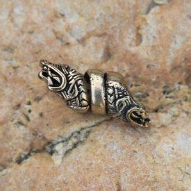 Viking beard bead Haithabu, bronze