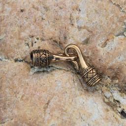 Viking necklace lock 5 mm, bronze