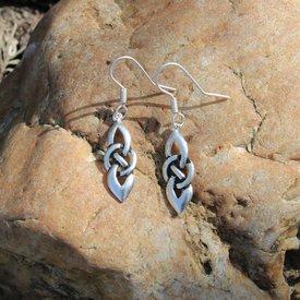 Boucles d'oreilles celtiques Dagda, SILVERED