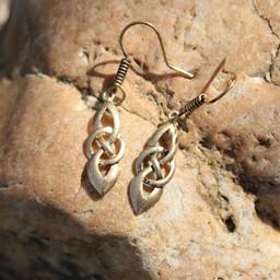 Celtic earrings Dagda, bronze