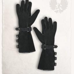 Leather gloves Kandor black