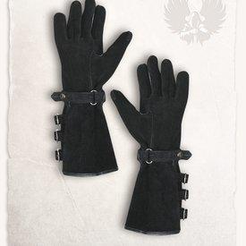 Mytholon Gants en cuir noir de Kandor