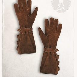 Leren handschoenen Kandor lichtbruin