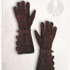 Mytholon Gants en cuir brun Kandor