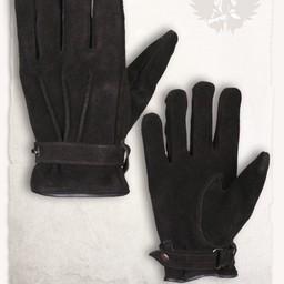 Rękawice skórzane czarne Hartwig