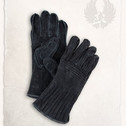 Leather gloves Clemens black