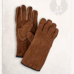 Leren handschoenen Clemens lichtbruin