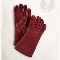 Leather gloves Clemens burgundy