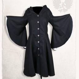 Coat Lilian black/natural
