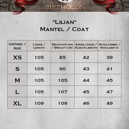 Frakke Lilian sort / naturlig
