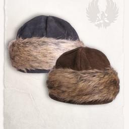 Viking cap Ragi læder, sort