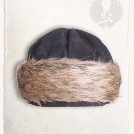 Mytholon Viking cap Ragi leather, black
