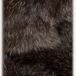 Karya fur skirt with dragon, black