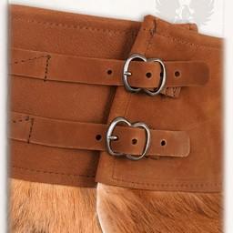 Karya fur skirt, brown