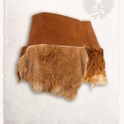 Karya futra spódnica brązowy