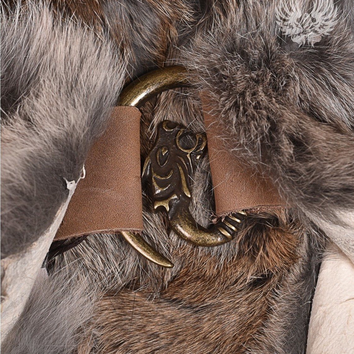 Mytholon Bont kraag grijs