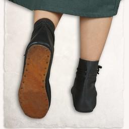 Medeltida skor Einhard svart