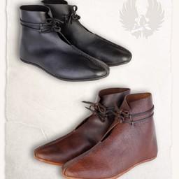 Mittelalterliche Schuhe Einhard schwarz