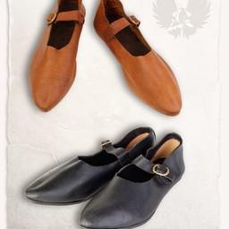 Mittelalterliche Schuhe Jadwiga braun