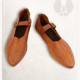 Medieval sko Jadwiga brun