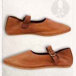 Medieval shoes Jadwiga brown