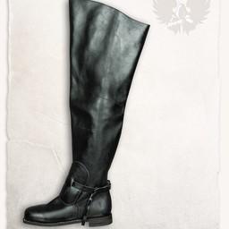 Musketiers laarzen Porthos zwart