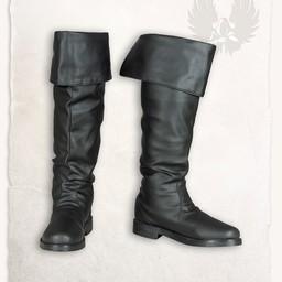Piraten laarzen Prescott zwart