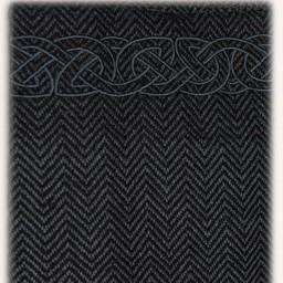 Hangeroc Alva vissegraatmotief zwart