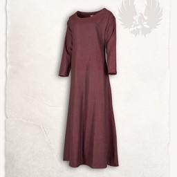 Lenora Viking dress red, herringbone motif