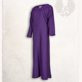 Mytholon Lenora Viking Kleid lila, Fischgrätenmuster