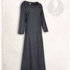 Mytholon Viking jurk Lenora vissegraatmotief zwart