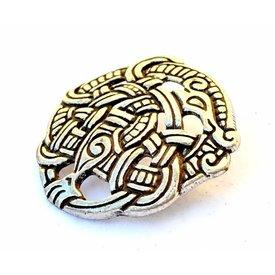 Viking fitting Midgard snake, silvered