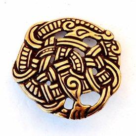 Viking fitting Midgard snake, brass