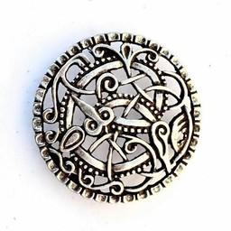 Viking belt fitting Pitney, silvered