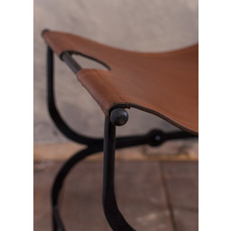 Folding chair, leather