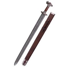 Vendelzwaard Uppsala 7de-8ste eeuw, vertind gevest, damast