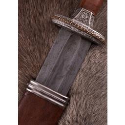 Vendel miecz Uppsala na 7. 8. wiek, cynowany rękojeść, Damast
