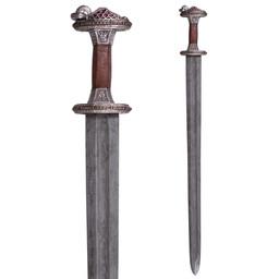 Vendelschwert Uppsala 7.-8. Jahrhundert, Messinggriff, Damast