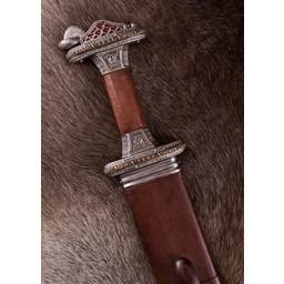Espada Vendel Uppsala siglos VII-VIII, empuñadura de latón, damast
