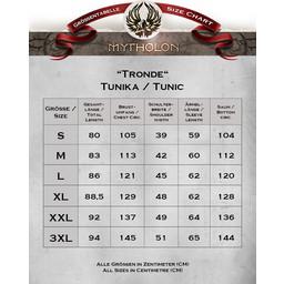 Viking tunika Tronde, motyw jodełkę, szary