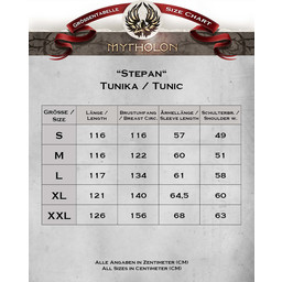 Middeleeuwse tuniek Stepan, rood