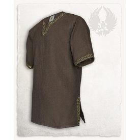 Mytholon Medieval tunic Sigbert, herringbone motif, brown