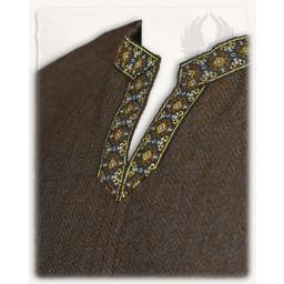 Middelalder tunika Sigbert, sildeben motiv, brun