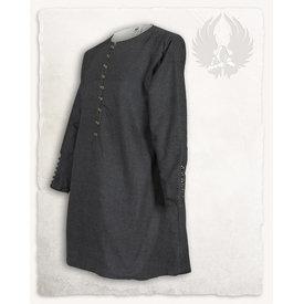 Mytholon Tunika Rafael Fischgrät-Muster, schwarz