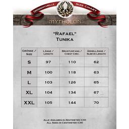 Tunika Rafael jodełka motyw, czarny