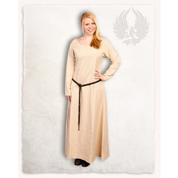 Wikinger Kleid Lenora creme Leinen