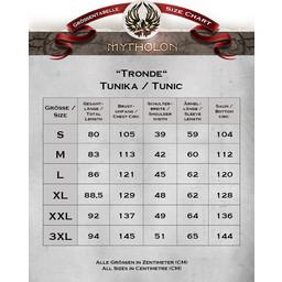 Viking tunika Tronde, motyw jodełkę, czerwony