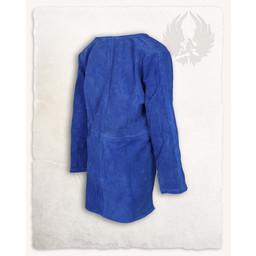 Viking tunika Tronde ruskind, blå