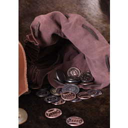 Medieval pieniądze woreczek Chester, brązowy