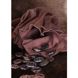 Medieval penge pose Oxford, mørkebrun